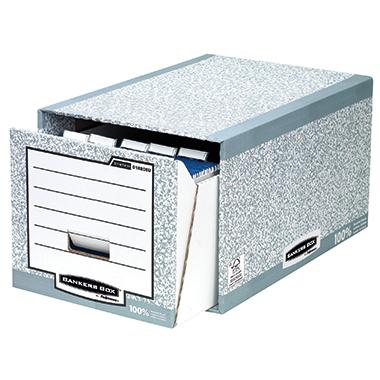 Bankers Box Aufbewahrungsbox Karton Recycelt Din A4 M Deckel