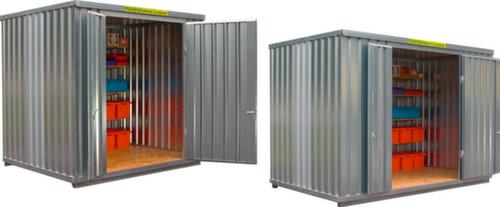 gro raum materialcontainer mit holzboden und doppelfl gelt r verzinkt in verschiedenen gr en. Black Bedroom Furniture Sets. Home Design Ideas